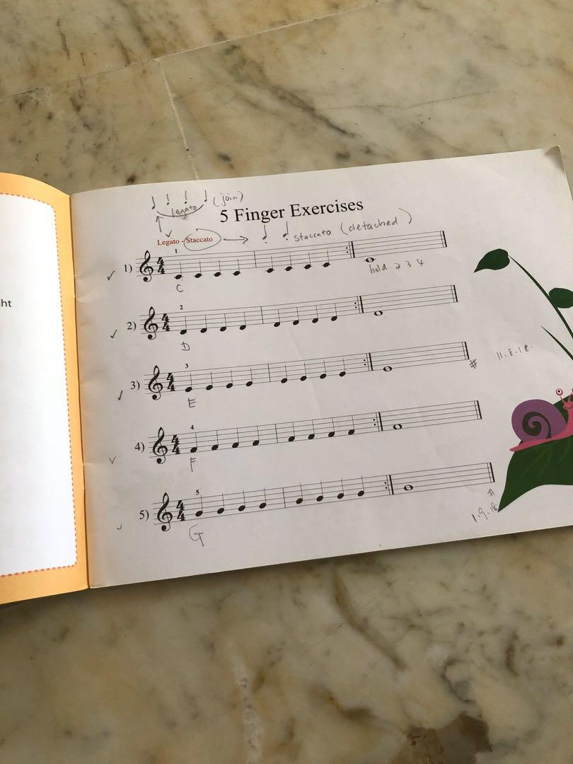 Piano Finger Exercise for young beginners