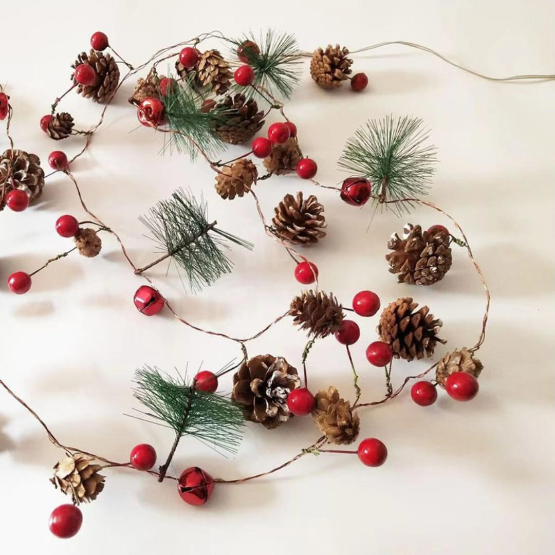 Pine Cone Bell light for Christmas Decoration