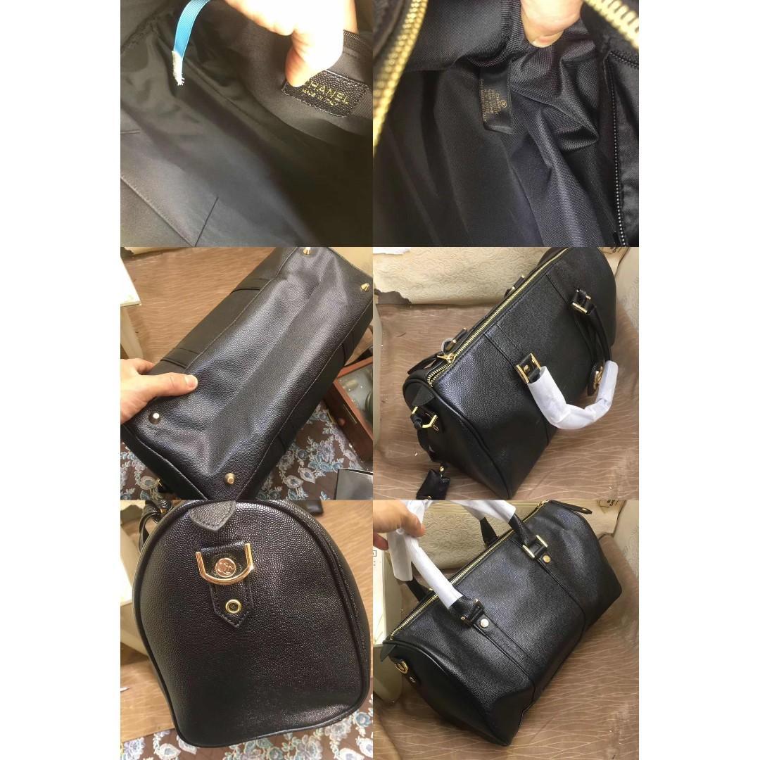[PO] CC Boston Travel Bag / Handbag With Sling Strap (Black) *VIP Gift* PO1117002138 + FREE Normal Post! (UP $54.8)