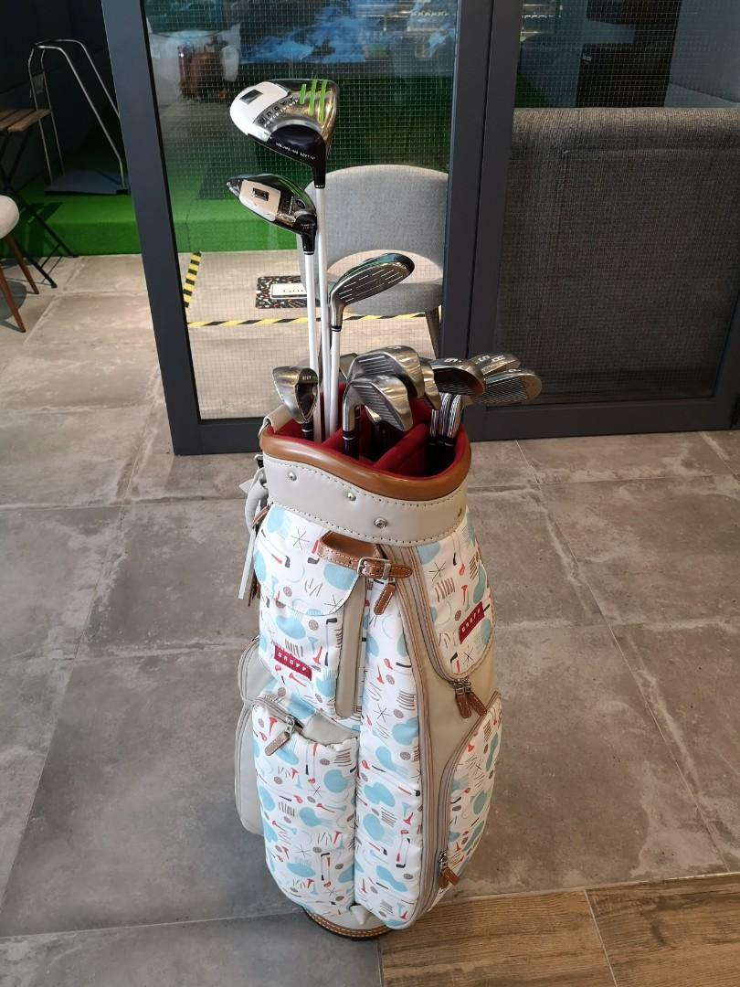 Rare! ONOFF full set lady golf clubs with bag