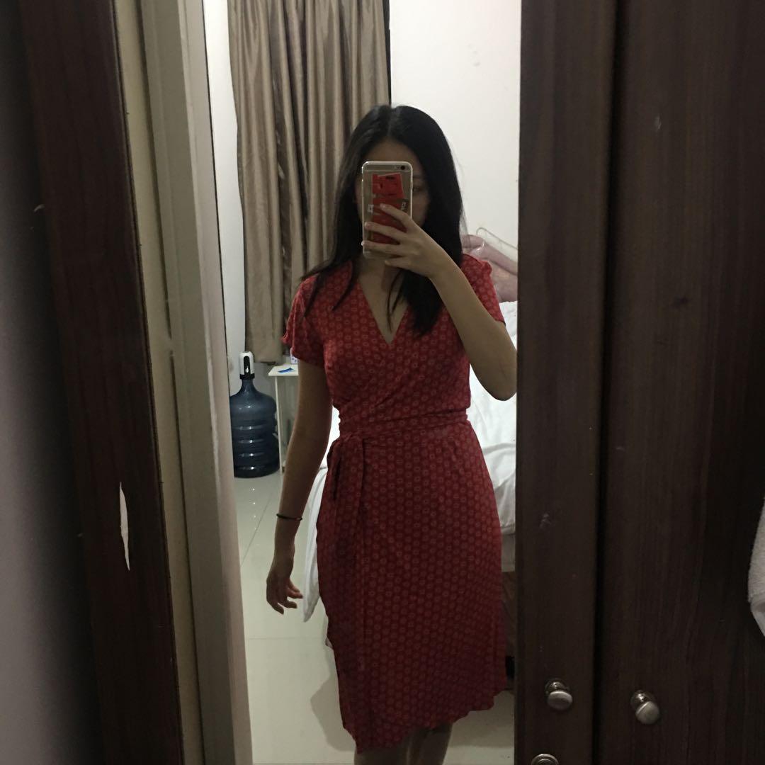 Red Midi Summer Dress