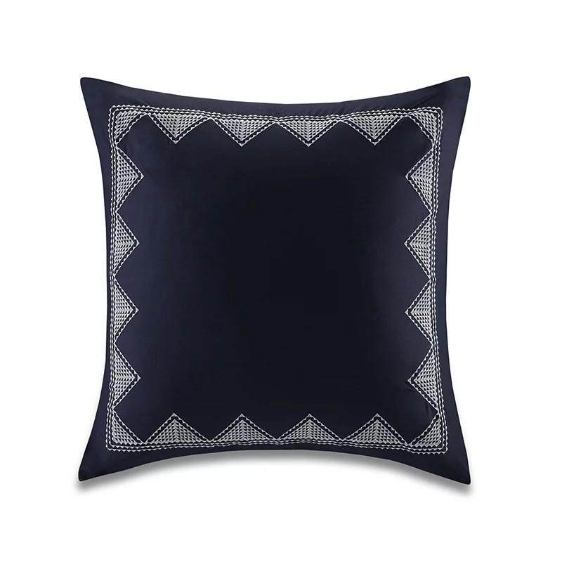 Rustic Embroidery Cushion Cover   Accent Throw Pillow