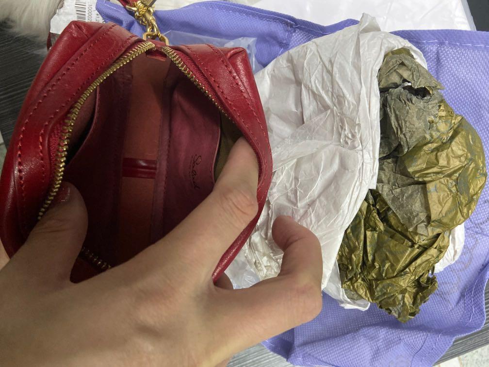 Salad  wallet 化妝袋 手挽袋
