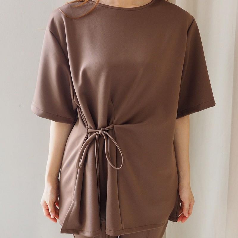 SET908 Setelan baju kerja wanita setelan blouse dan celana panjang polos setelan baju wanita kekinian setan blouse ikat dan celana bahan wanita