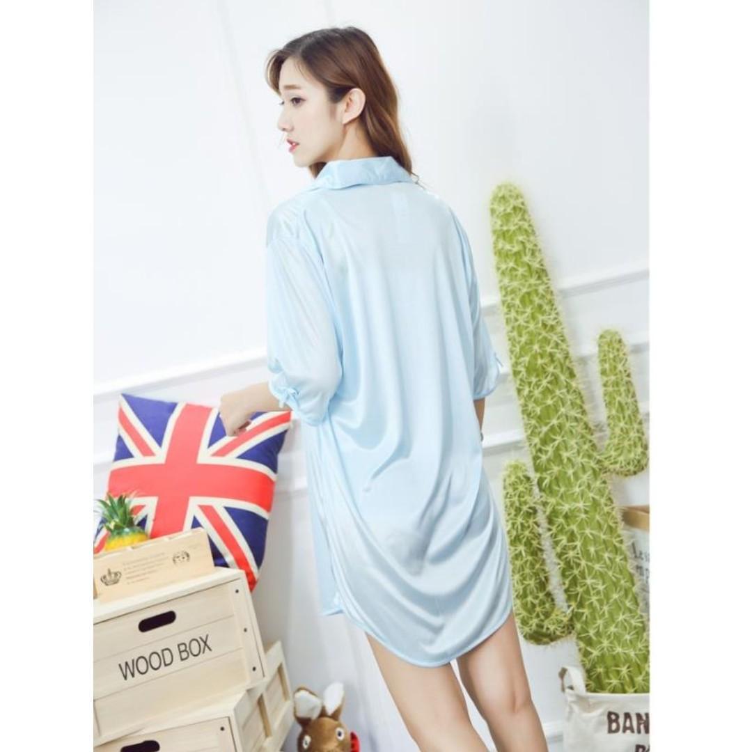 Sexy Loose lingerie Sleepwear Nightwear Pajamas Ice Silk Sleep Dress
