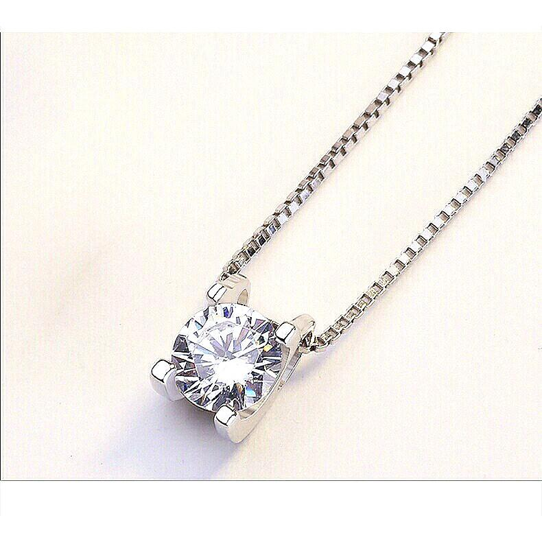 """Shiny 925 Silver Classic """"Only You"""" Crystal Pendant Necklace ⛤025"""