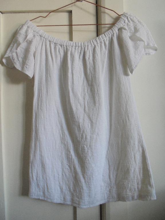 Sir the Label White Cotton Off Shoulder Dress Sz 1