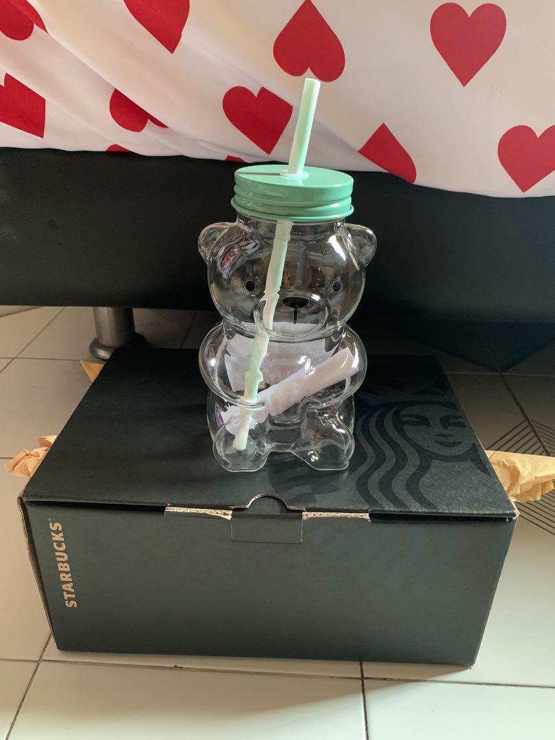 Starbucks Korea Bear glass tumbler Christmas