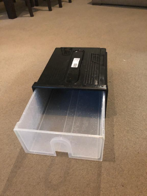 Storage containers: Sistema containers large (x2), Oates storage drawer