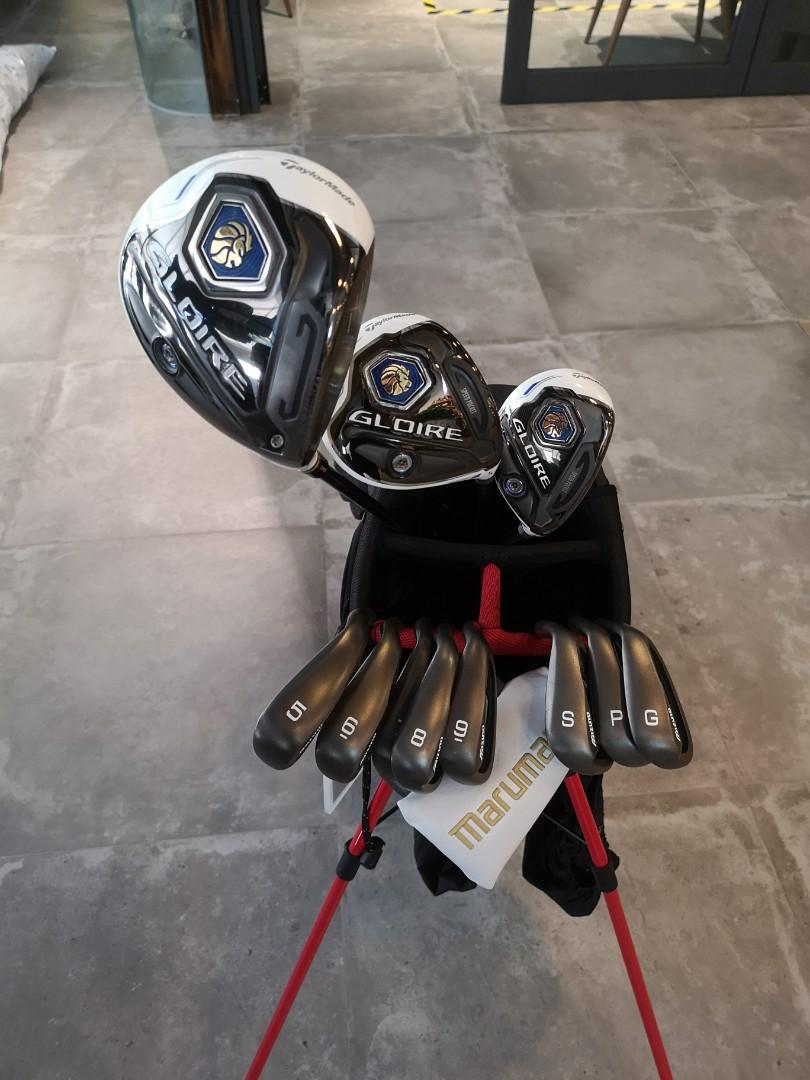 TaylorMade + Mizuno full set golf clubs with stand bag