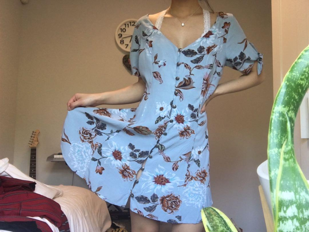 Urban Outfitters- Vintage style blue dress