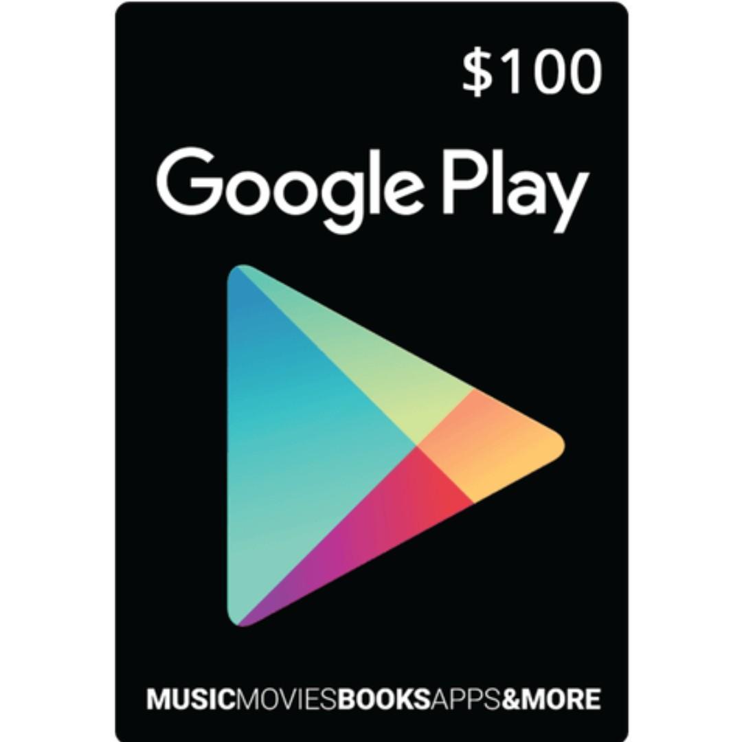 US Google Play Gift Card Code USD $100
