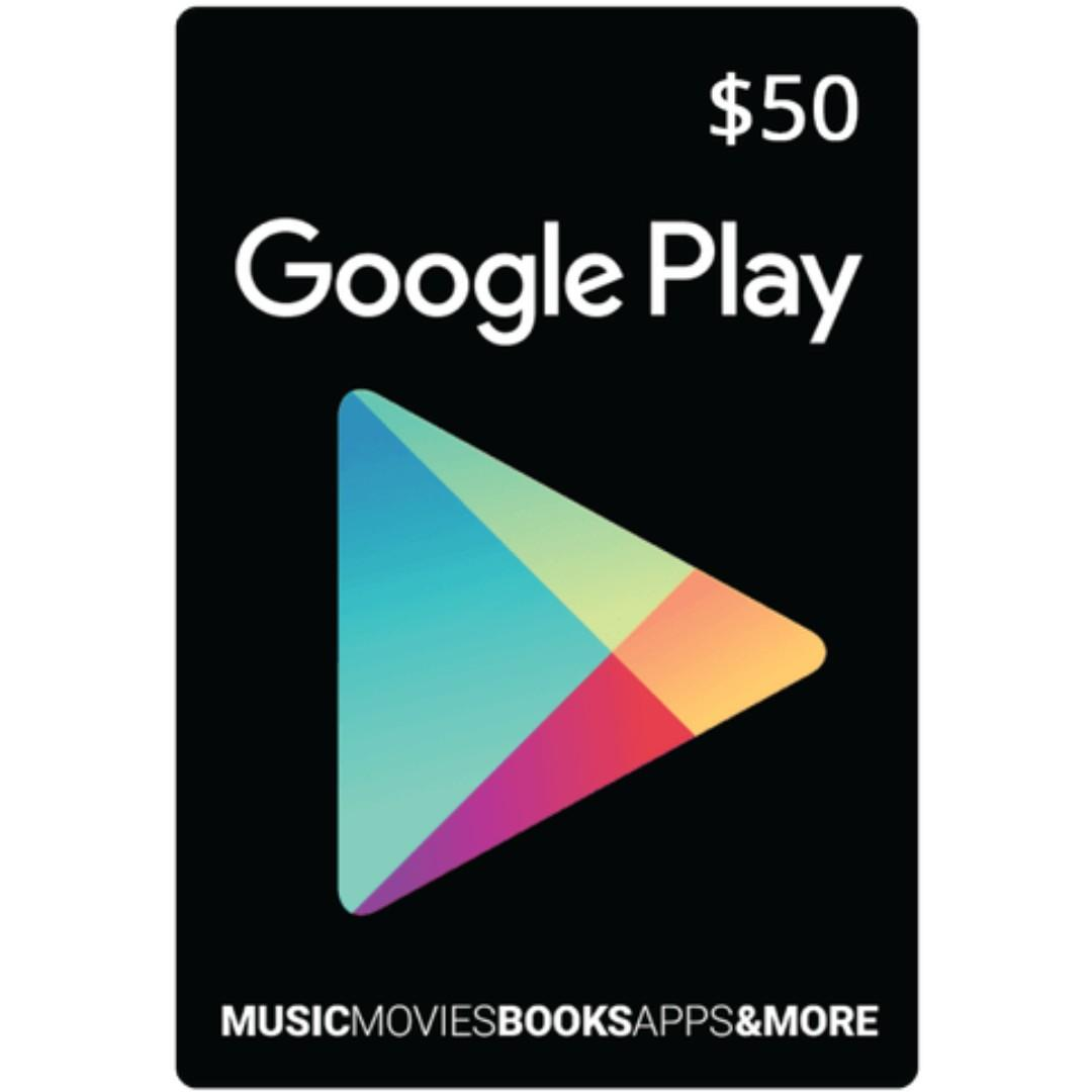 US Google Play Gift Card Code USD $50