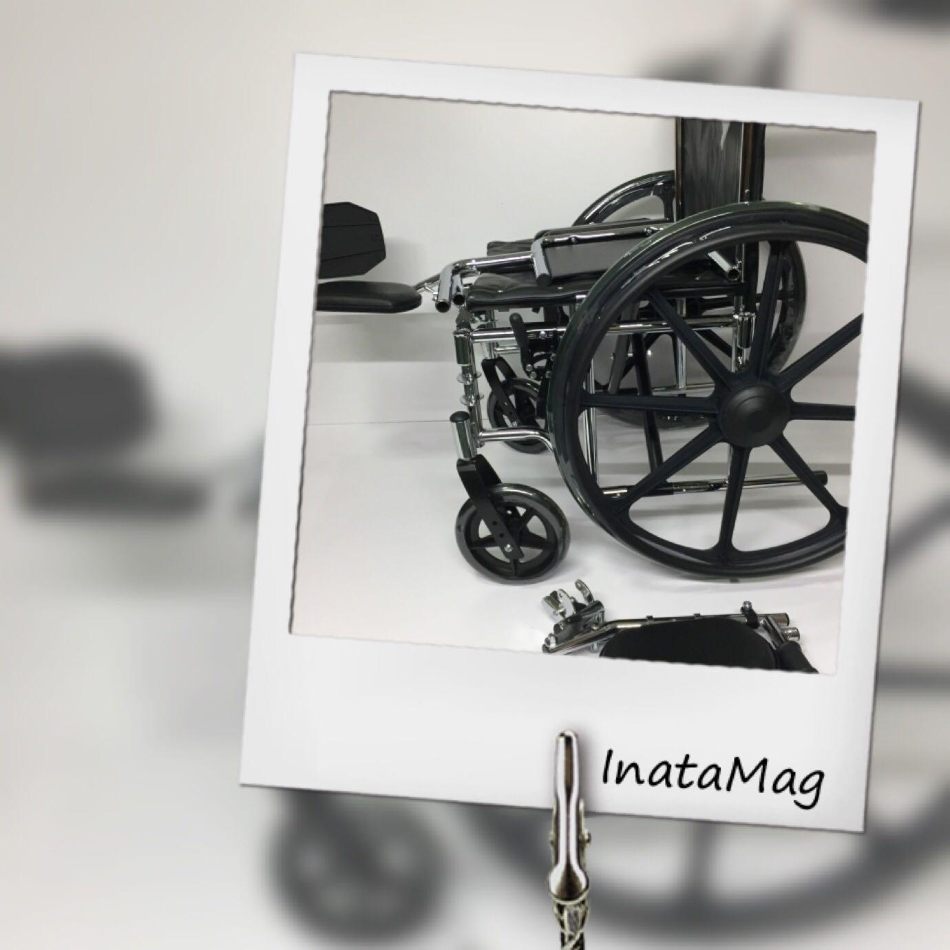 Wheelchair with elevated footrest
