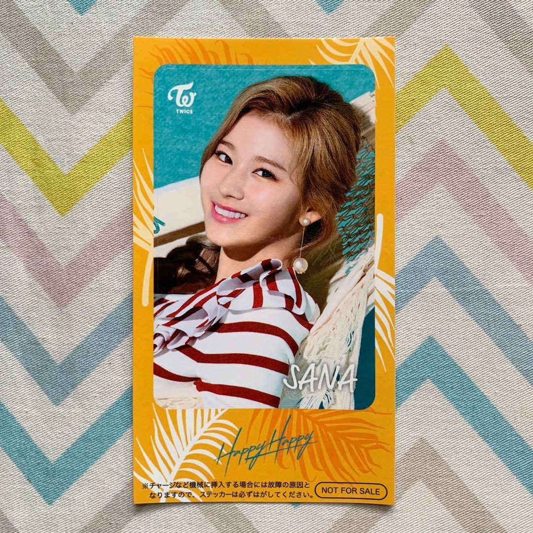 Wts Twice Happy Happy Sana IC Sticker Benefit