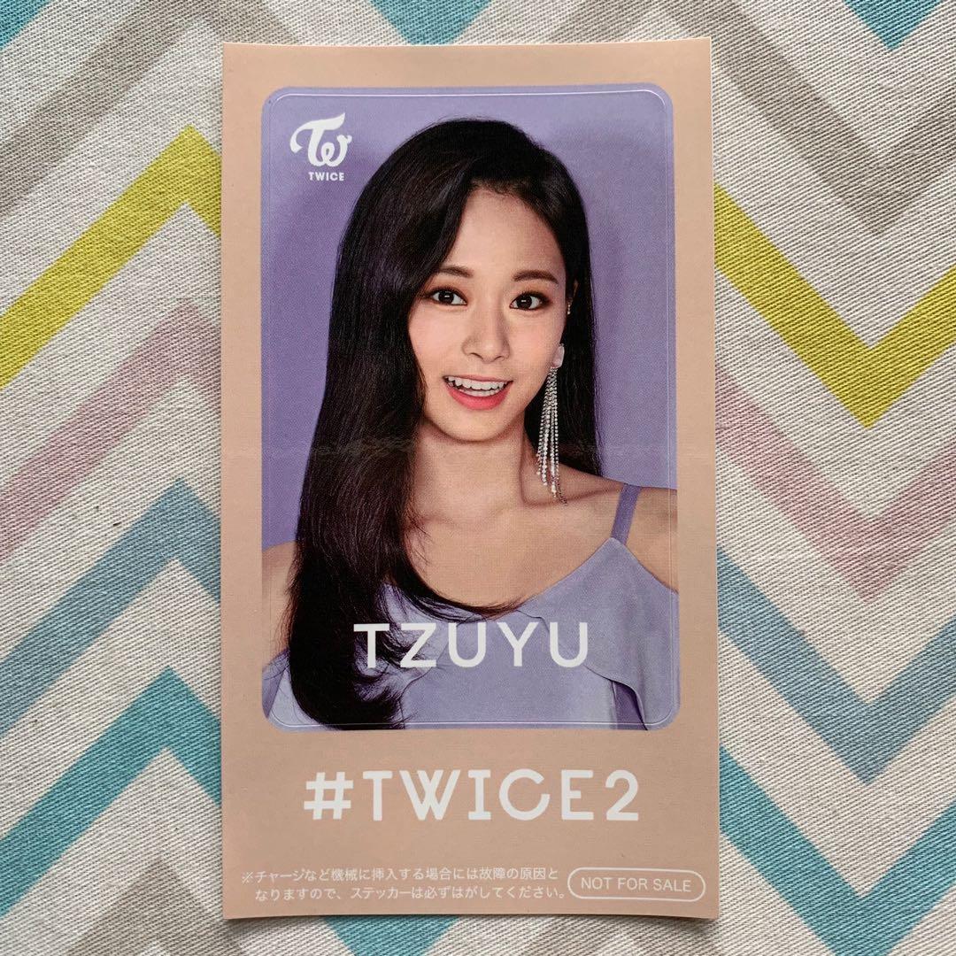 Wts Twice #Twice2 Tzuyu IC Sticker Benefit