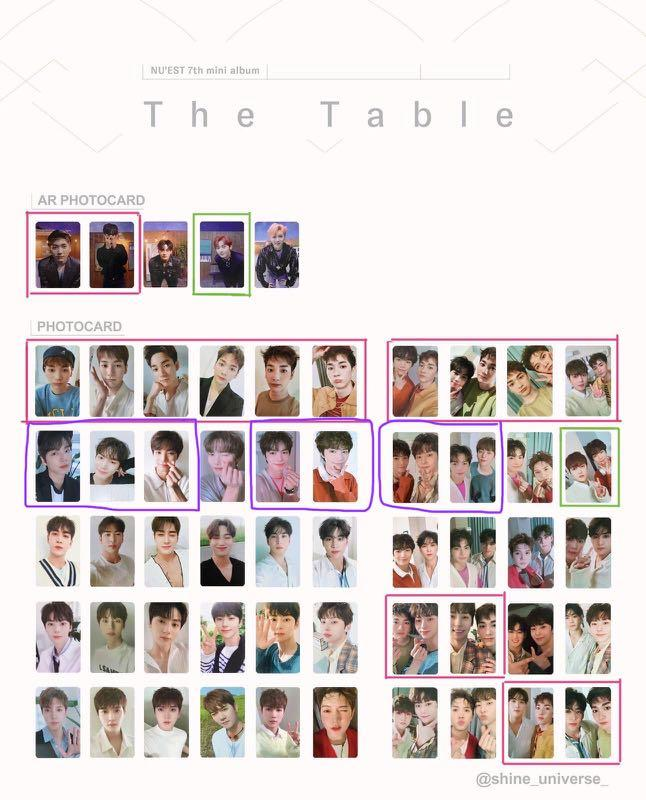 (wtt/wts) nu'est the table inserts