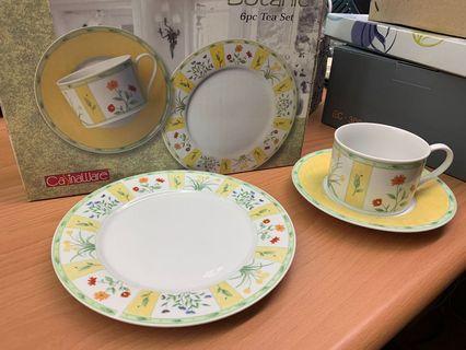 CasinaWare 6pc高級茶杯組(2杯+2大盤+2小盤)