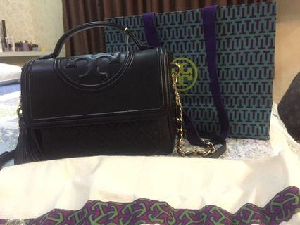 Tory Burch Fleming Satchel Noir