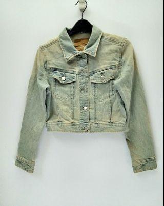 Japanese Brand INGNI Denim  Jeans Cropped Jacket