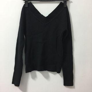 全新V領針織毛衣