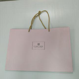 Concorde Hotel paper bag 43cm width x 29cm Height