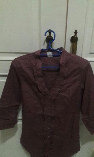 Blouse Wanita warna ungu tua Branded Original (X) S.M.L/ Woman Branded Clothes Original (X) S.M.L