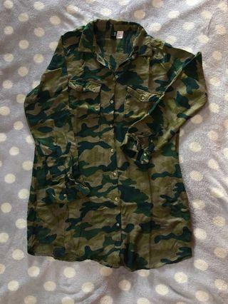 H&M kemeja dress army