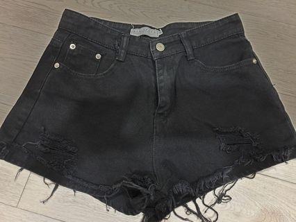高腰顯瘦牛仔短褲