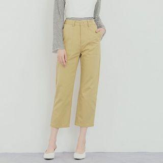 Pazzo修飾剪裁小直筒長褲(全新)