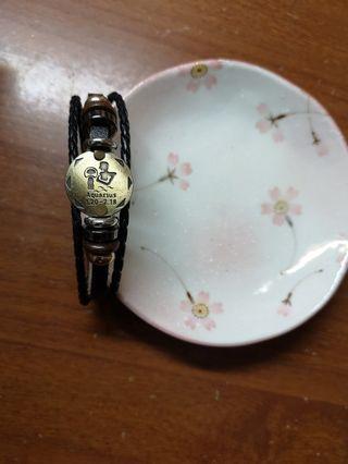 雙11~現貨~水瓶座~十二星座皮手環