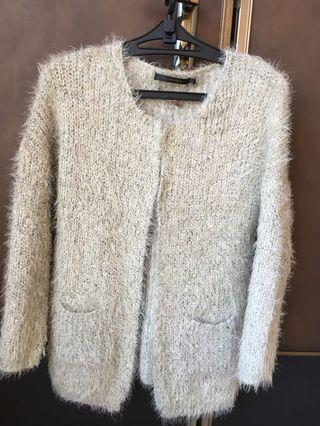 設計師CHLOE CHEN淺灰色毛海外套