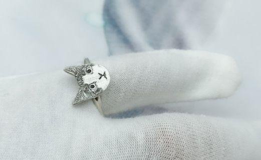 紀念寵物訂做戒指 / 客製化925純銀戒指 / 訂製寵物紀念戒指 / 情人節生日禮物
