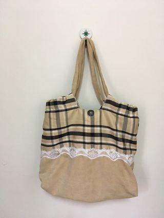 手工雙面布包、兩面可背、側背包、斜背包