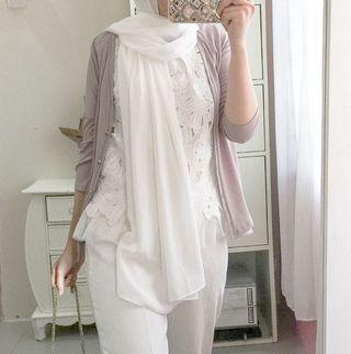 Set lace top + cardigan