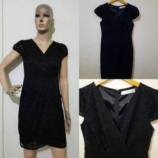 Love & Bravery Brokat Black Dress #promosidress