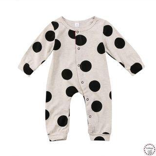 BN baby Polka dot button down jumpsuit pyjamas bodysuit onesie romper sleepsuit