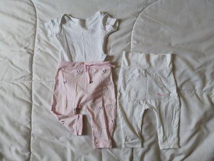 Bundle Padini long pants and white romper set