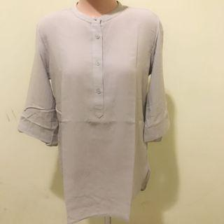 Blouse grey Uniqlo