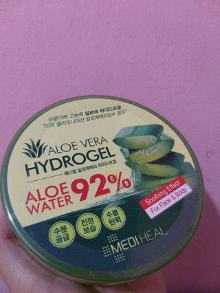 Mediheal Aloe Vera Hydrogel Aloe Water 92% Soothing Effect For Face & Body