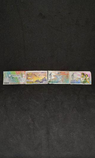 Perangko Kuno Indonesia - Olimpiade Atlanta 1996, Pemilu 1997, Pemilu 1999