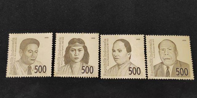Perangko Kuno Pahlawan Nasional Tahun 1999 Mint Koleksi Filateli