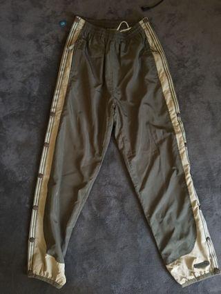 古著橄欖奶油配色運動褲