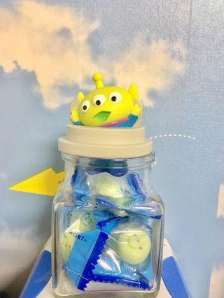 (新品)三眼怪玻璃糖果罐 日本迪士尼