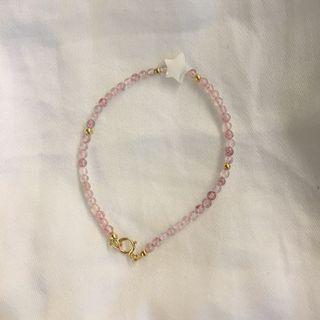 草莓晶 手鏈 13.5-14cm