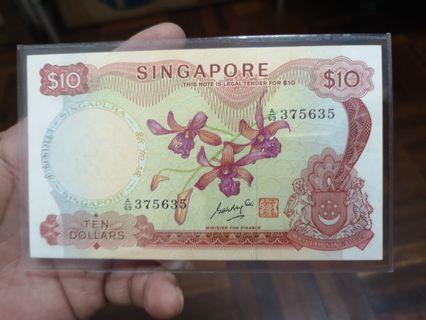 Singapore Dollars 10 (Orchid)