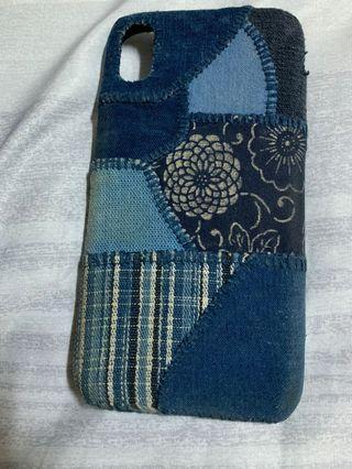 I phone xr 藍染拼接手機殼