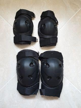 Pre-Loved Elbow & Knee Guards for Motorbike School Motorcycle bike CDC SSDC BBDC