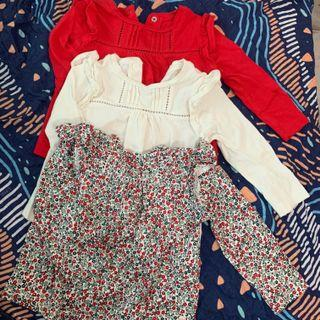 3 pieces long sleeves  (6-9m)