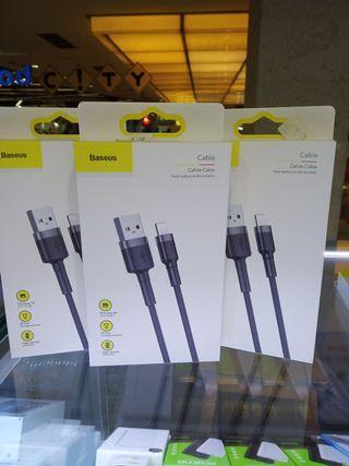 Baseus kabel data iPhone lightning fast charging 1M